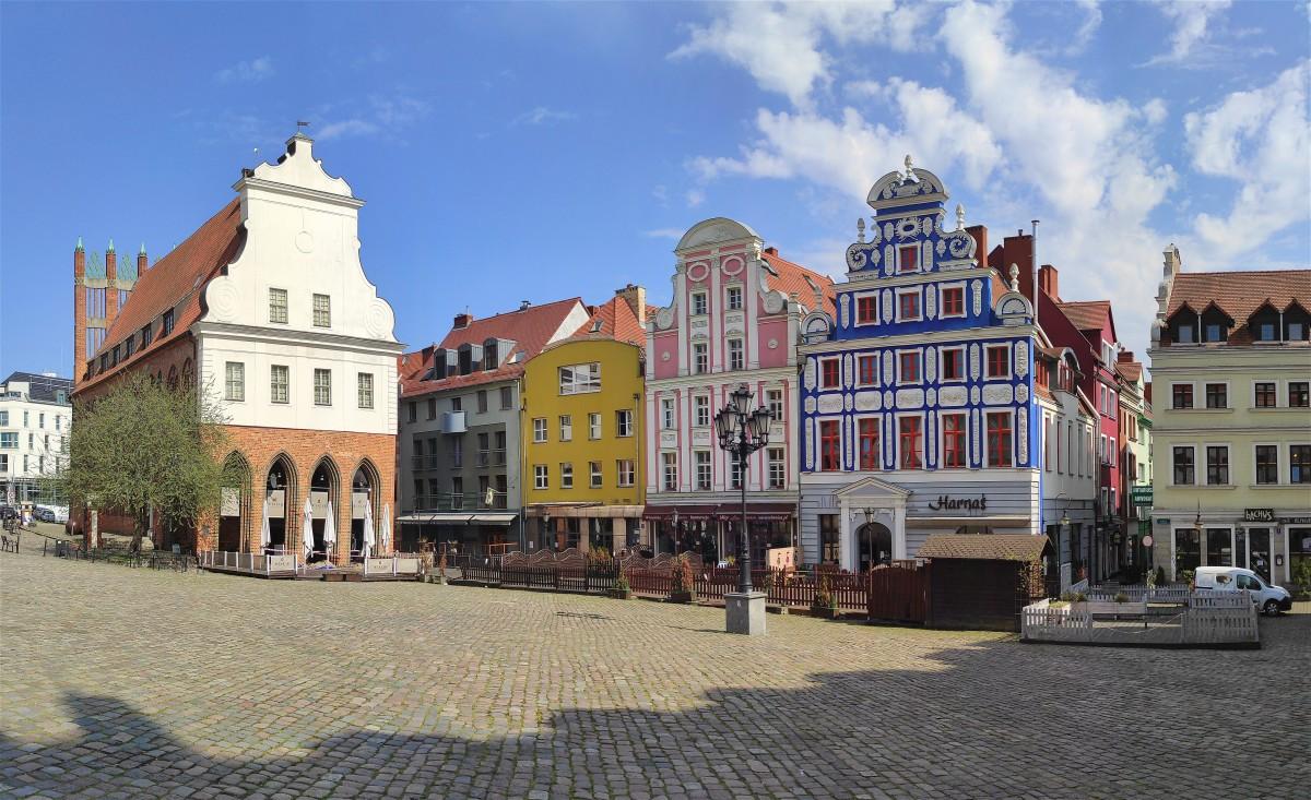 Zdjęcia: Szczecin, zachodniopomorskie, Kamienice na Rynku Siennym w Szczecinie, POLSKA