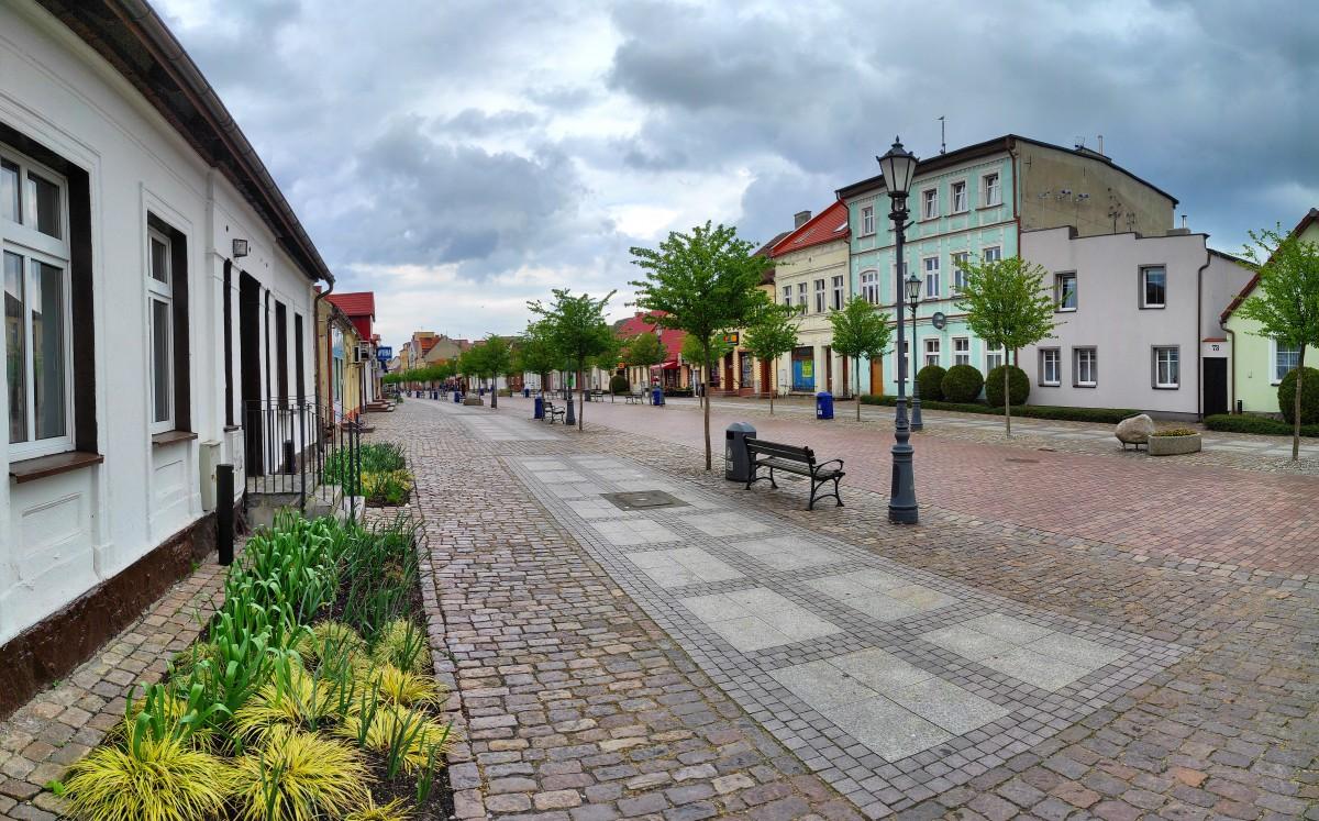 Zdjęcia: Łeba, pomorskie, Ulica Kościuszki w Łebie, POLSKA