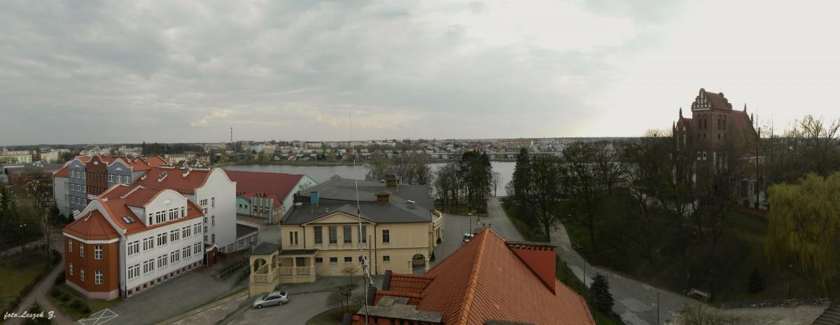 Zdjęcia: Iława., warmińsko-mazurskie, Panorama Iławy z wieży Ratusza., POLSKA