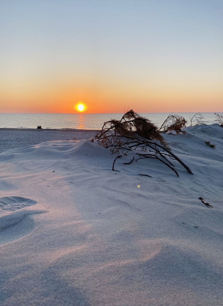 Zdjęcia: Łeba , Pomorze , Zachód słońca plaża Łeba , POLSKA