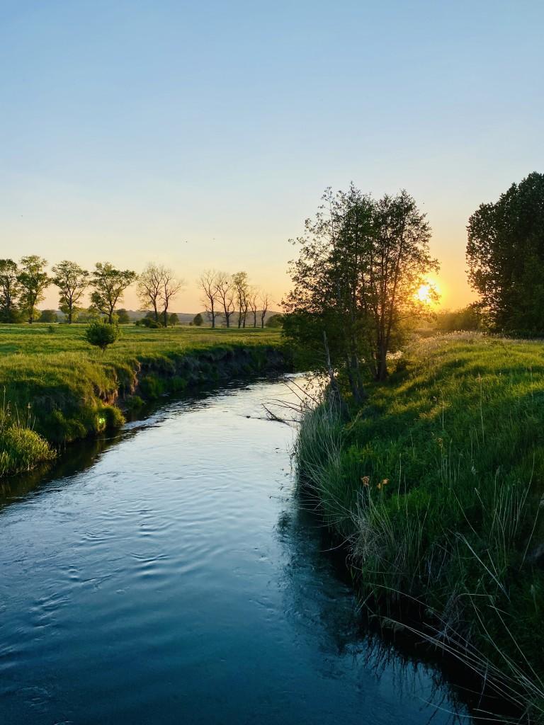 Zdjęcia: Lębork , Pomorze , Romantyczny zachód słońca nad rzeką , POLSKA