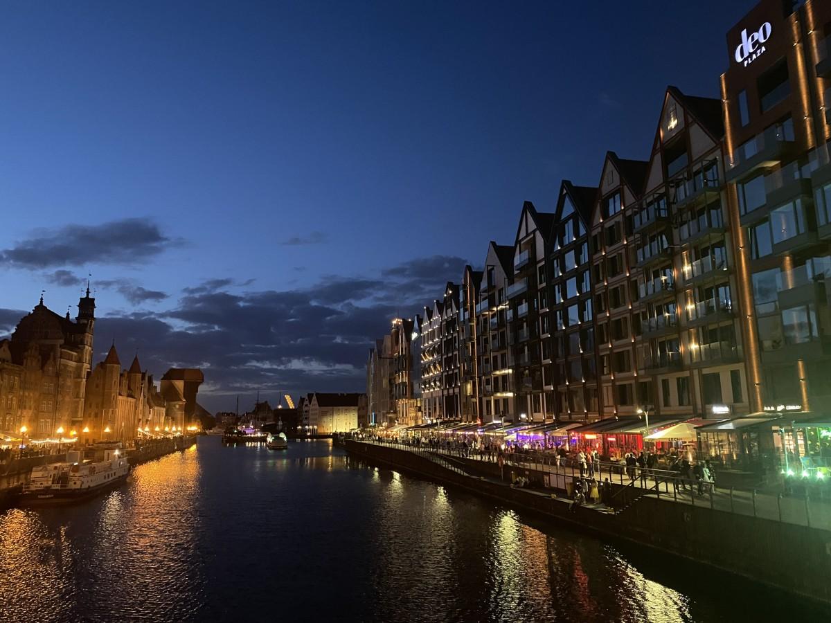 Zdjęcia: Gdansk , Pomorze , Gdansk nocą , POLSKA