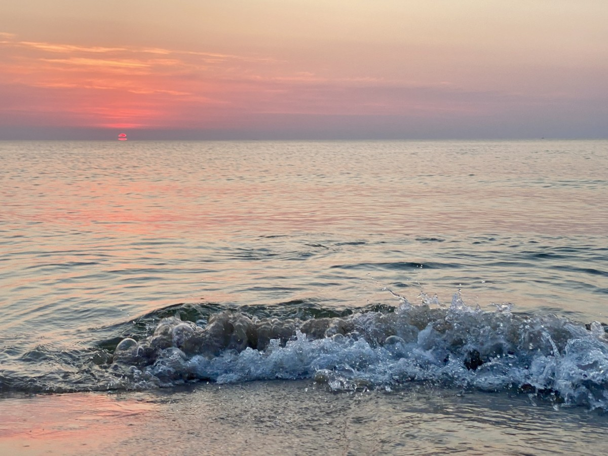 Zdjęcia: Łeba plaża , Pomorze , Zachód Słońca Łeba , POLSKA