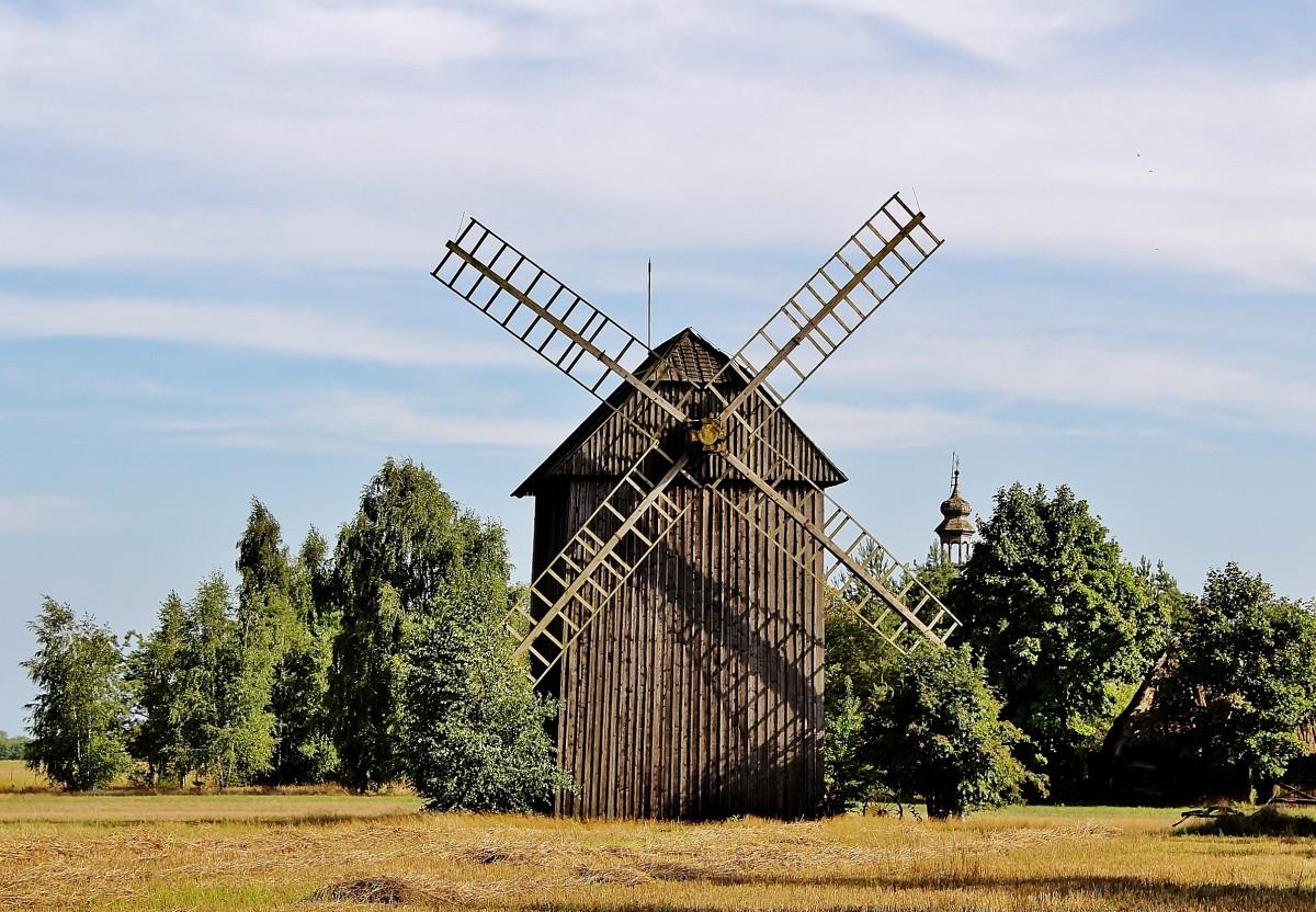 Zdjęcia: Maurzyce, województwo łódzkie, Wiatrak z XIX wieku, POLSKA