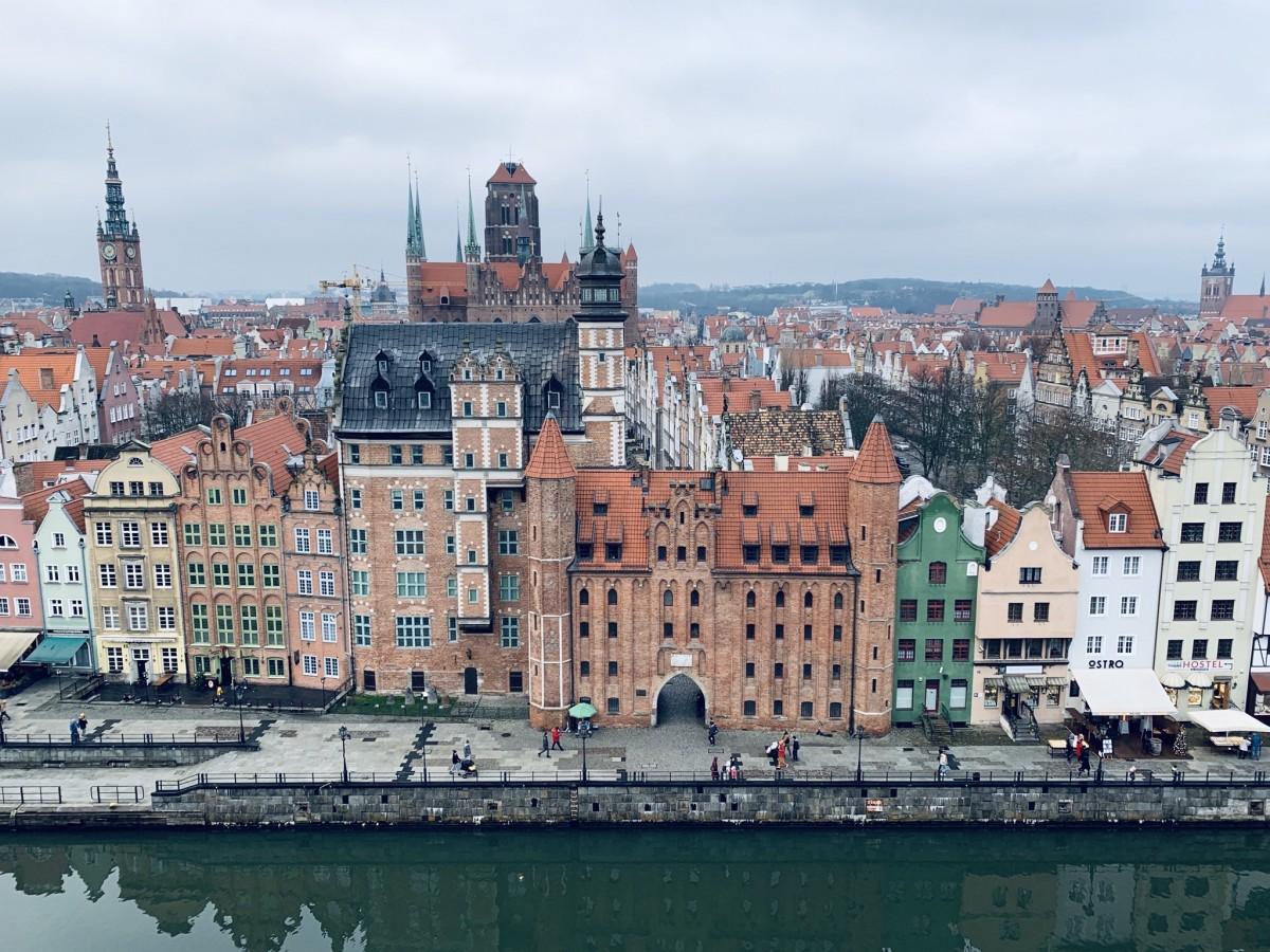 Zdjęcia: Gdansk , Pomorze , Gdansk z wysokości , POLSKA
