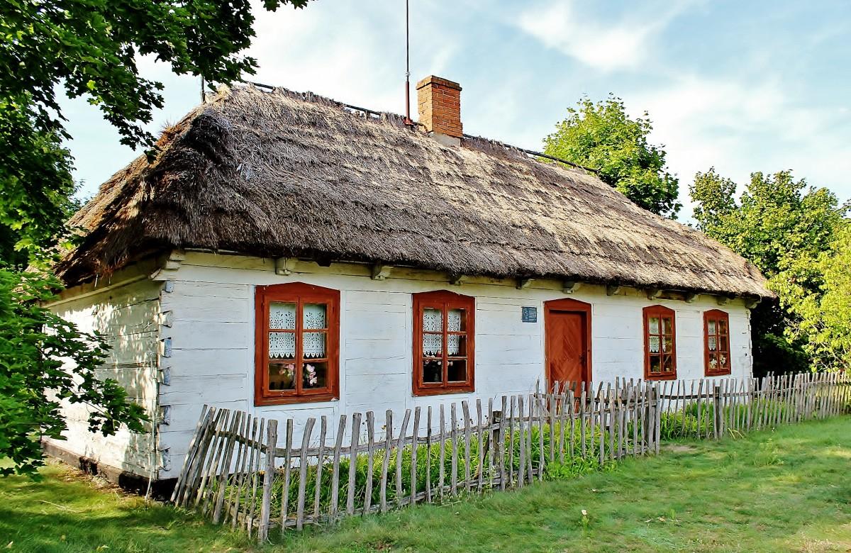 Zdjęcia: Maurzyce, województwo łódzkie, Chałupa z XIX wieku, POLSKA