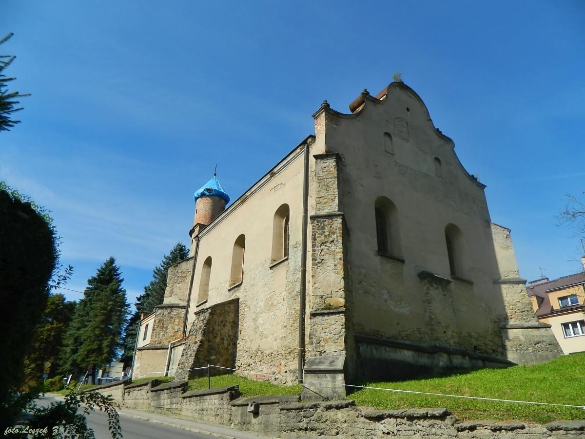 Zdjęcia: pow.leski., woj.podkarpackie., Lesko - Barokowa synagoga., POLSKA