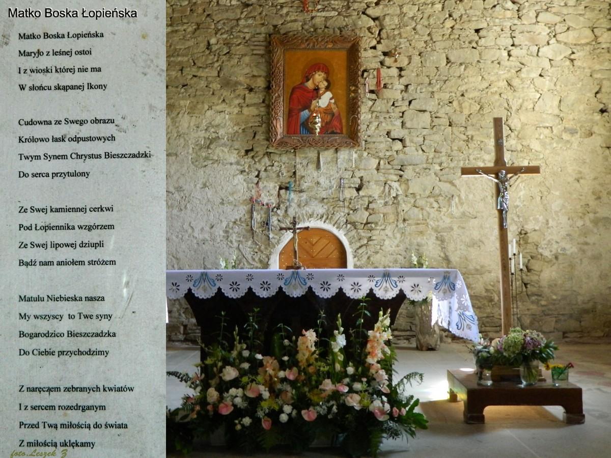 Zdjęcia: pow.leski., woj.podkarpackie., Łopienka - cerkiew pw.św. Paraskewii Męczennicy - ołtarz., POLSKA