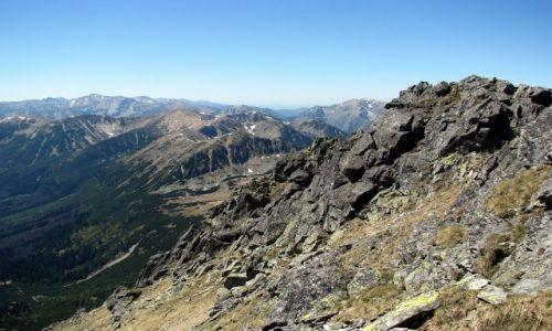 Zdjecie POLSKA / Tatry Wysokie / Szpiglasowy Wierch 2172 m. n. p. m. / Panorama Tatr ze Szpiglasowego Wierchu