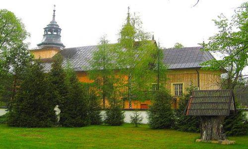 Zdjecie POLSKA / Roztocze / Górecko Kościelne / kościół drewniany
