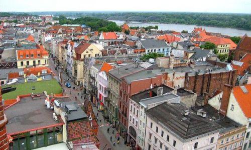 Zdjęcie POLSKA / Kujawsko - Pomorskie / Toruń / patrząc z wieży Ratusza
