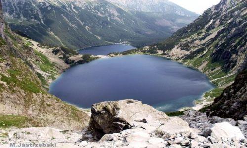 Zdjecie POLSKA / Zakopane / High Tatras / Rysy- widok na Czarny Staw i Morskie Oko