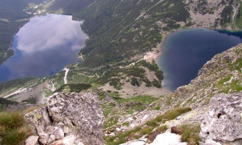 Zdjecie POLSKA / Tatry Wysokie / Dolina Rybiego Potoku / Morskie Oko i Czarny St. pod Rysami