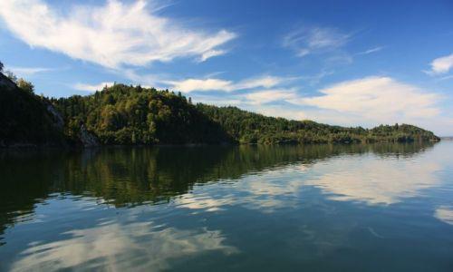 Zdjęcie POLSKA / Spisz / Jezioro Czorsztyńskie / Późne lato nad Dunajcem