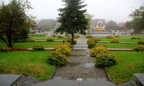 Zdjęcie POLSKA / Małopolska / LANCKORONA / Rynek z góry.