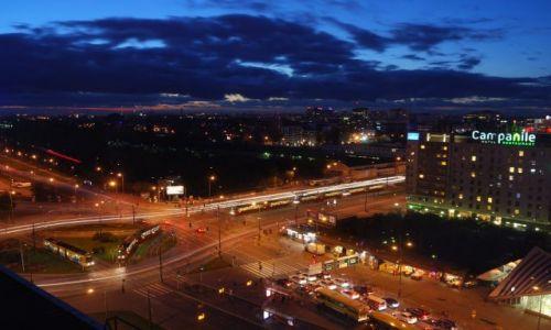 Zdjecie POLSKA / Warszawa / Plac Zawiszy  / Noc w Warszawie