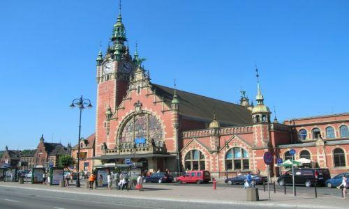 Zdjecie POLSKA / Gdansk / Centrum / Dworzec kolejowy w Gdansku