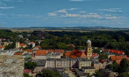 Zdjecie POLSKA / dolnośląskie / Bolków / Bolków. Panorama z wieży zamkowej.