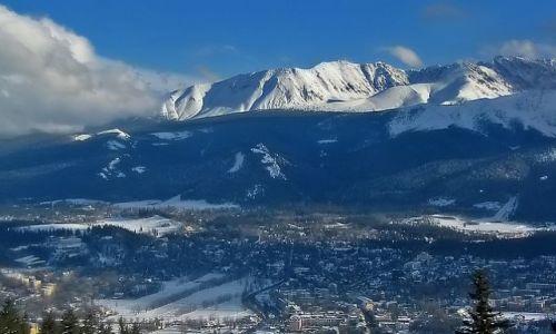 Zdjecie POLSKA / Podhale / Zakopane / Popatrzmy z góry na Zakopane i góry