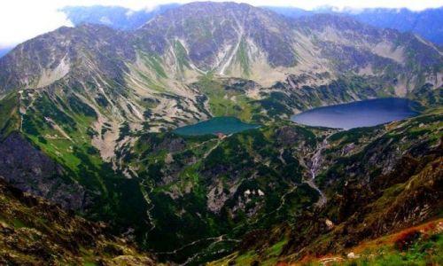 Zdjecie POLSKA / - / Tatry / Widok z Krzyżne na Dolinę Pięciu Stawów