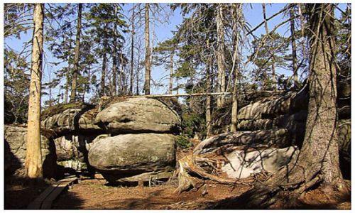 Zdjecie POLSKA / Góry stołowe / błędne skałki / kamień na kamieniu