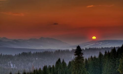 Zdjecie POLSKA / Tatry Mountains / Tatry Mountains / Sunset in Polan