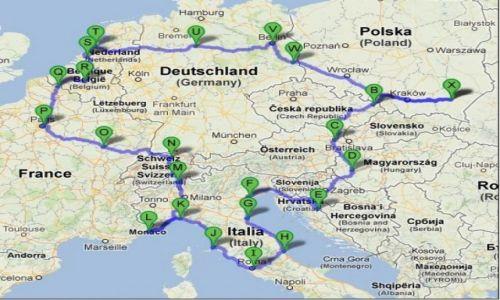 POLSKA / Rzeszów / Rzeszów / Mapa naszej podróży
