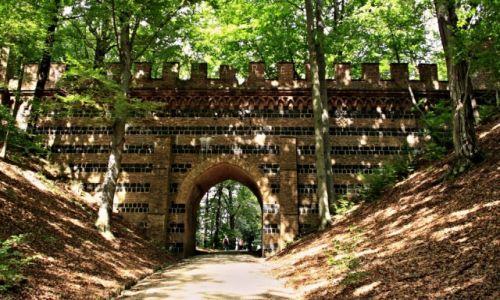 Zdjecie POLSKA / Woj Lubuskie / Łęknica / Park z listy UNESCO