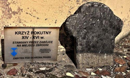 Zdjecie POLSKA /  woj. lubuskie. / Jasień (Powiat Żarski) / Szlakiem krzyży pokutnych.