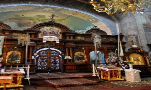 POLSKA / wschodni / Hrubieszów / Wystrój cerkwi prawoslawnej