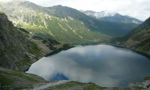 Zdjecie POLSKA / Tatry / Czarny Staw i Morskie Oko ze szlaku na Rysy / Droga na Rysy