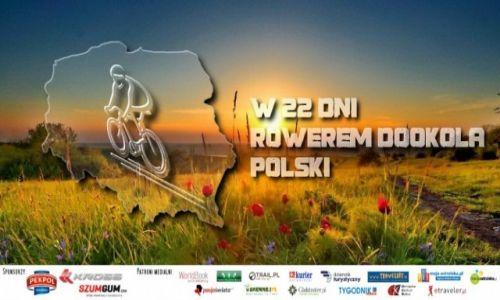 POLSKA / Mazowiecki  / Ostrołęka / Logo wyprawy Rowerem Dookoła Polski