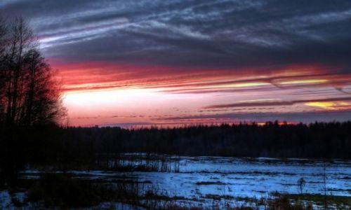 Zdjęcie POLSKA / Mazury / Nowe Guty / Grudniowy wieczór