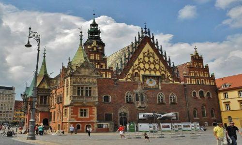 POLSKA / Dolny Śląsk / Wrocław / Ratusz, Rynek