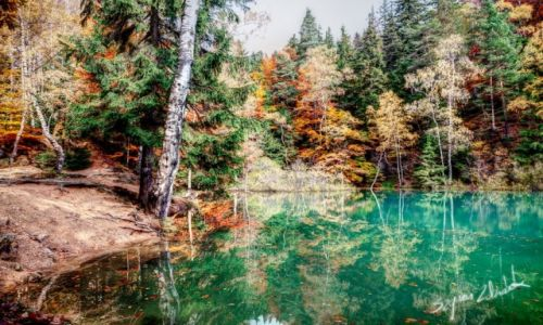 Zdjęcie POLSKA / Rudawy Janowickie / Błękitne Jeziorko / Jesienne jeziorka