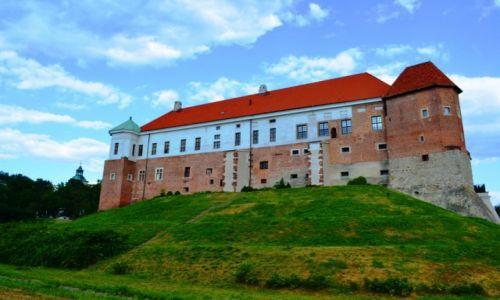 Zdjecie POLSKA / Świętokrzyskie / Sandomierz / Zamek Sandomierski w pełnej okazałości