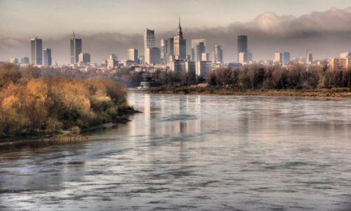 Zdjęcie POLSKA / - / Warszawa / Warszawa z mostu Siekierkowskiego cz.2