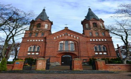 Zdjęcie POLSKA / Mazowieckie / Liw / Neogotycki kościół w Grębkowie