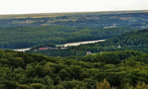 Zdjęcie POLSKA / Pomorze / Kaszuby / Widok z Wieżycy na jeziora