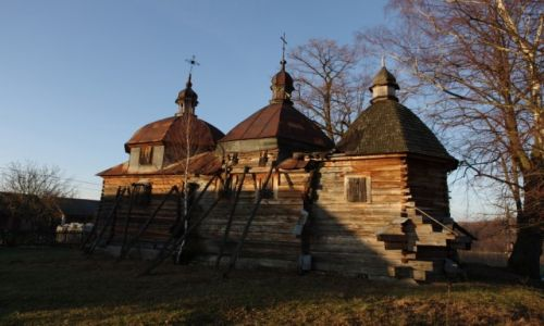 Zdjecie POLSKA / Roztocze Wschodnie / Nowe Brusno / Cerkiew czekająca na renowację.