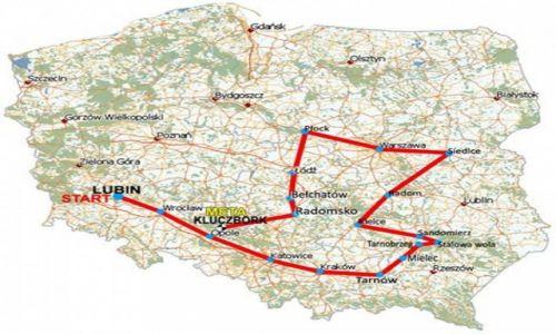 POLSKA / Południe i Wschód kraju / od Lubina do Kluczborka / Kibicowska wyprawa rowerem przez Polskę