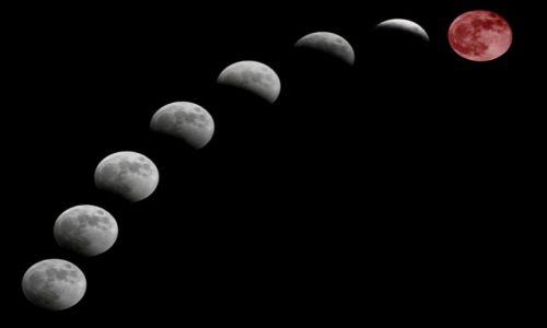 Zdjecie POLSKA / Toruń / balkon ;-) / poszczególne fazy zaćmienia księżyca