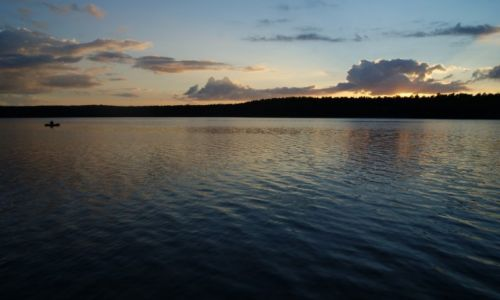 Zdjecie POLSKA / warmińsko-mazurskie / Swaderki / konkurs Jezioro Maróz o zachodzie słońca