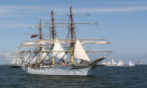 Zdjęcie POLSKA / Pomorze / Gdynia - The Tall Ships' Races Gdynia 2009 / Sørlandet, norweska fregata