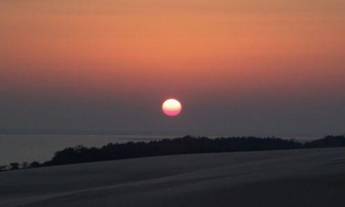 Zdjęcie POLSKA / Pomorze / Łeba / Różowe słońce