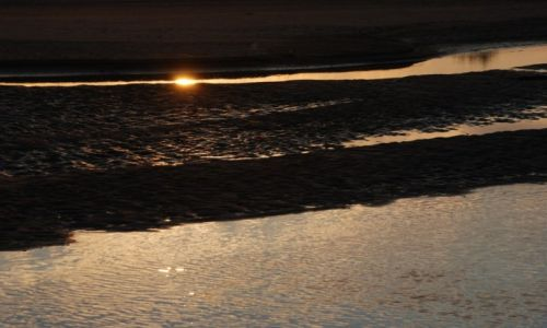 Zdjęcie POLSKA / mazowieckie / między Maciejowicami a Wilgą / Słońce nad Wisłą