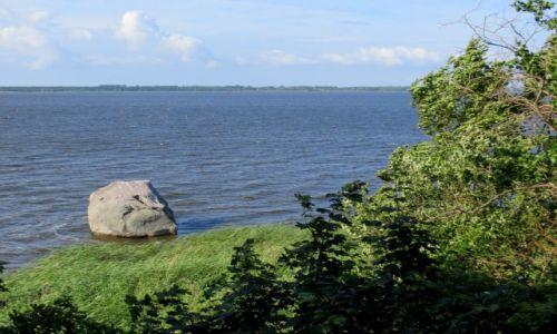 Zdjecie POLSKA / Zachodniopomorskie / w pobliżu Kamienia Pomorskiego, przy brzegu Wyspy Chrząszczewskiej / nie taki zwykły kamień...