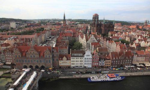POLSKA / Pomorze / Gdańsk, nad Motławą / Panorama z Zielonego Mostu
