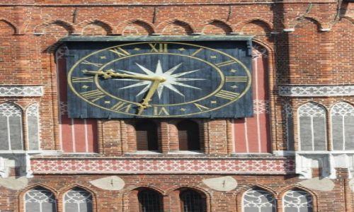 POLSKA / Kujawsko-Pomorskie / Toruń / Toruń, Ratusz, wieża, zegar