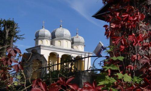 Zdjecie POLSKA / Podkarpackie / Jurowce-II Szlak Architektury Drewnianej / Dzwonnica z 1905 roku przy kosciele pw.ś.ś.Piotra i Pawła